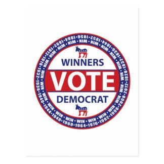 Voto Demócrata de los ganadores Postales
