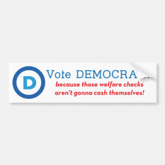 ¡Voto Demócrata! Pegatina De Parachoque