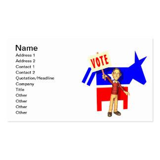 Voto Demócrata Tarjetas De Negocios