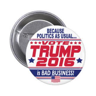 Voto Donald Trump 2016 Pin Redondo De 2 Pulgadas