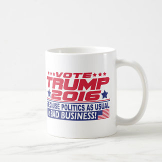 Voto Donald Trump 2016 Taza Básica Blanca