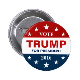 Voto Donald Trump para el presidente 2016 campaña Pin Redondo De 2 Pulgadas
