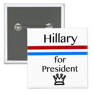 Voto el botón de la constitución pin cuadrado