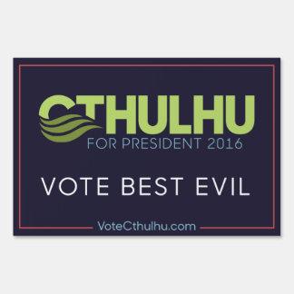 Voto el mejor Cthulhu malvado para el presidente Carteles