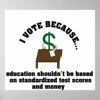 Voto el poster de la educación