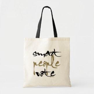 Voto elegante de la gente bolsa