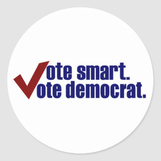 Voto elegante Demócrata del voto Pegatinas Redondas