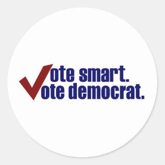 Voto elegante Demócrata del voto Etiqueta Redonda