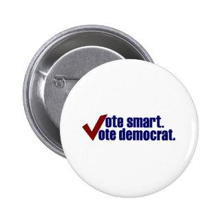 Voto elegante Demócrata del voto Pin Redondo De 2 Pulgadas