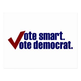 Voto elegante Demócrata del voto Postales