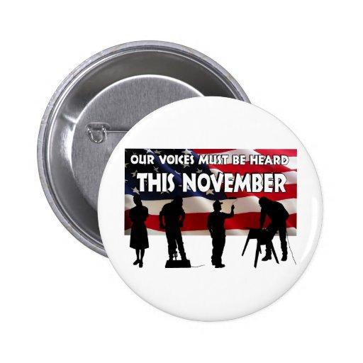 Voto en noviembre pin