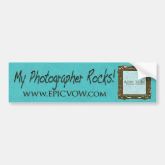 """¡Voto épico """"mis rocas del fotógrafo! """" Etiqueta De Parachoque"""