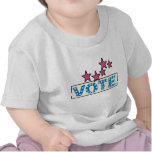 Voto estrellado camisetas