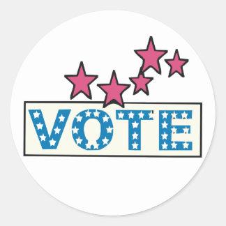 Voto estrellado etiqueta redonda