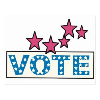 Voto estrellado postales