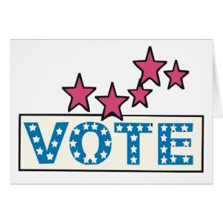 Voto estrellado tarjeta