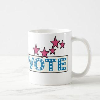 Voto estrellado tazas