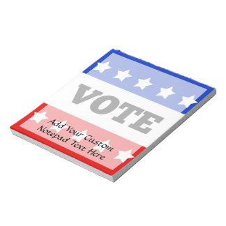 Voto, estrellas del blanco libretas para notas