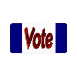 Voto Etiqueta De Dirección