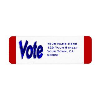 Voto Etiqueta De Remite