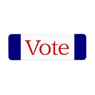 Voto Etiqueta De Remitente