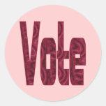 voto etiquetas