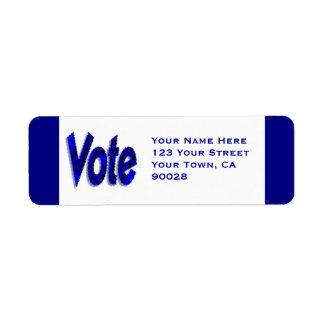 Voto Etiquetas De Remite