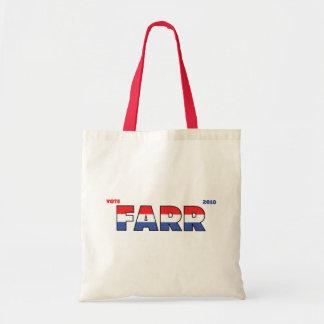 Voto Farr 2010 elecciones blanco y azul rojos Bolsas De Mano