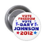 Voto Gary Johnson 2012 Pin
