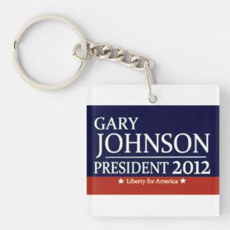 Voto Gary libertaria Johnson Llavero Cuadrado Acrílico A Una Cara