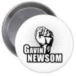 Voto Gavin Newsom Pin Redondo De 4 Pulgadas