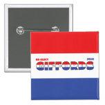 Voto Giffords 2010 elecciones blanco y azul rojos Pin