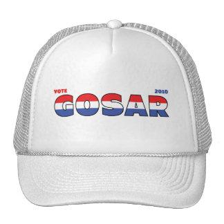 Voto Gosar 2010 elecciones blanco y azul rojos Gorras De Camionero