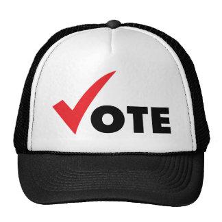 Voto grande de la señal gorra