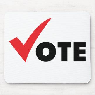 Voto grande de la señal tapetes de raton