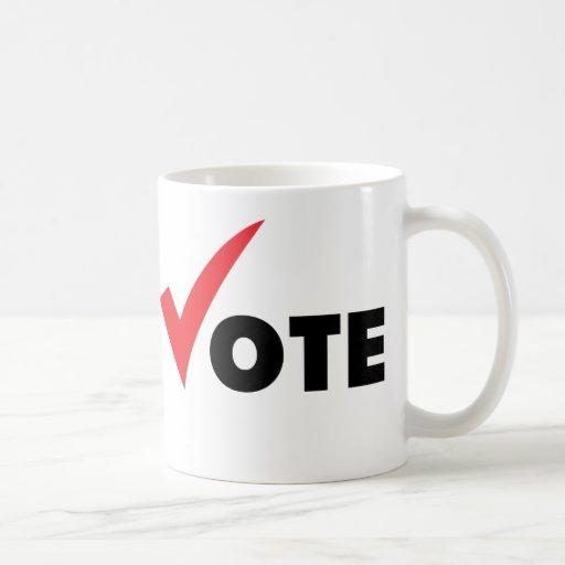 Voto grande de la señal taza de café
