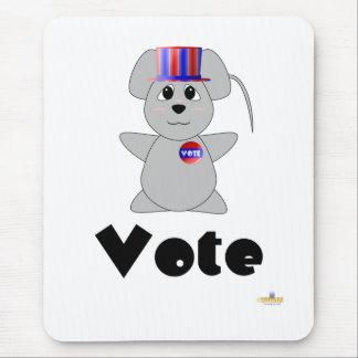 Voto gris de votación Huggable del ratón Alfombrilla De Ratón
