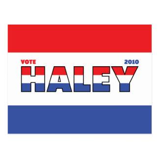 Voto Haley 2010 elecciones blanco y azul rojos Tarjeta Postal