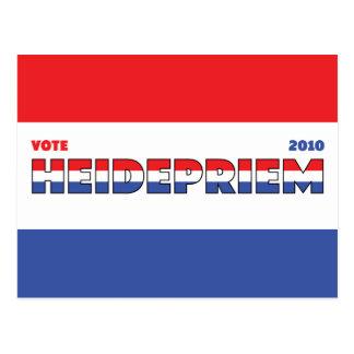 Voto Heidepriem 2010 elecciones blanco y azul Tarjeta Postal