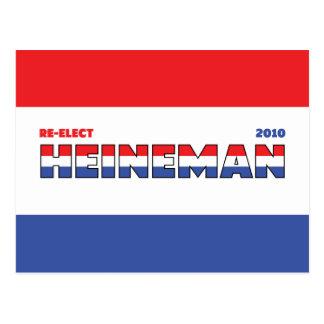 Voto Heineman 2010 elecciones blanco y azul rojos Tarjetas Postales