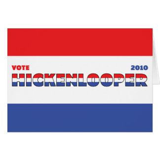 Voto Hickenlooper 2010 elecciones blanco y azul ro Tarjeta De Felicitación