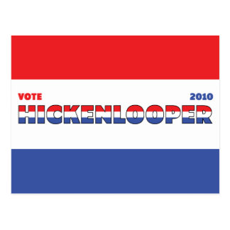 Voto Hickenlooper 2010 elecciones blanco y azul Postales