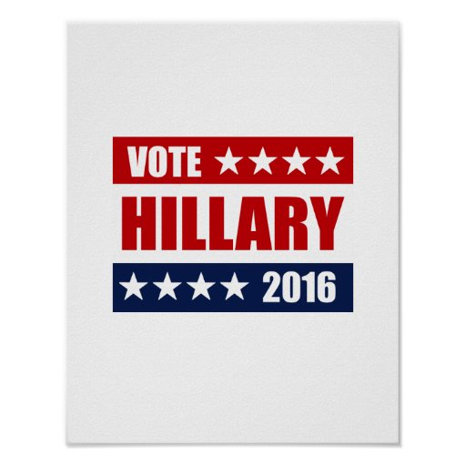 VOTO HILLARY 2016.png Poster
