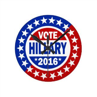Voto Hillary 2016 Reloj De Pared