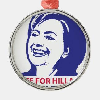 voto hillary Clinton 2016 Adorno Navideño Redondo De Metal