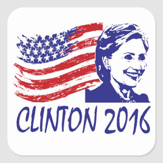 ¡Voto!  Hillary Clinton 2016 pegatinas Pegatina Cuadrada