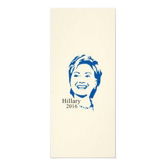 """Voto Hillary Clinton de HIllary 2016 para el Invitación 4"""" X 9.25"""""""