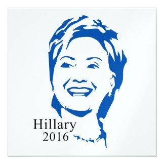 """Voto Hillary Clinton de HIllary 2016 para el Invitación 5.25"""" X 5.25"""""""
