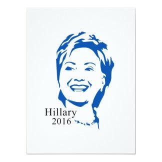 """Voto Hillary Clinton de HIllary 2016 para el Invitación 6.5"""" X 8.75"""""""