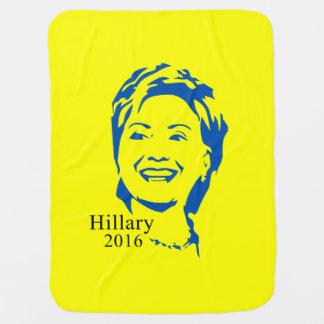 Voto Hillary Clinton de Hillary 2016 para el Mantas De Bebé